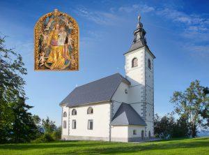 cerkev Malenski vrh razglednica 154 x 114